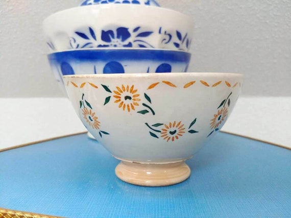 Superbe Old Antique French Café Au Lait Bowl / Collection French Bowl / Cottage  Farmhouse Kitchen Decor / Shabby Bowls / Vintage French