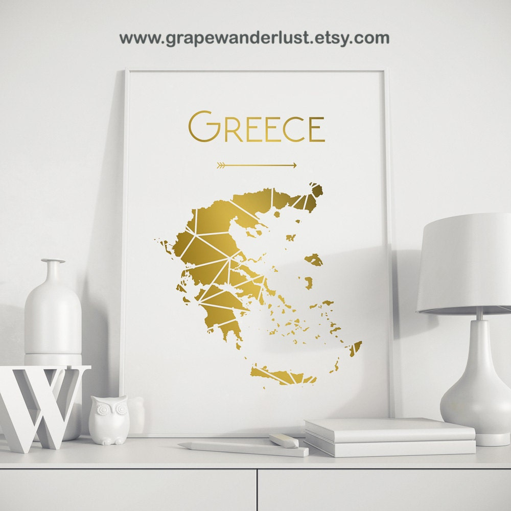 photo regarding Printable Map of Greece referred to as Greece map, Greece wall artwork, Greece poster Greece artwork, Greece printable Map, Geometric artwork, nursery wall artwork, printable poster, business artwork