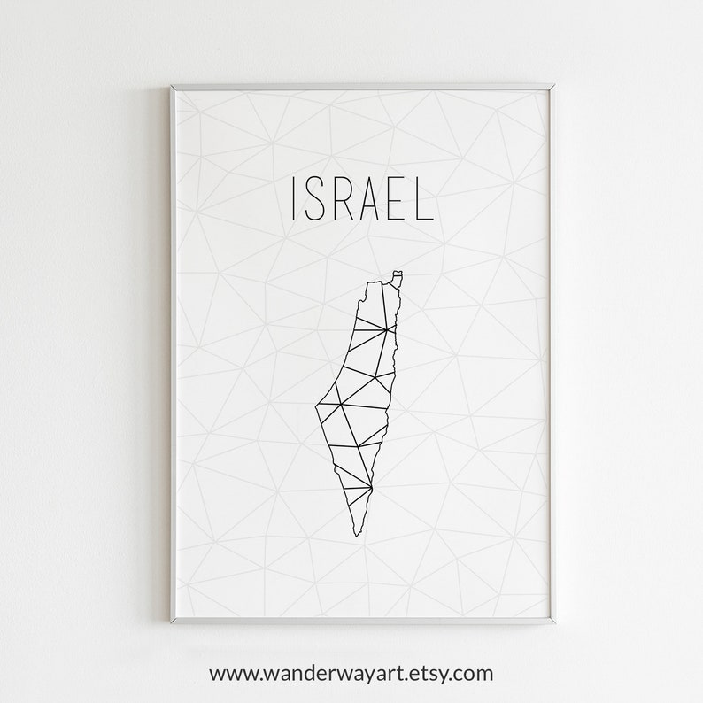 picture about Printable Map of Israel titled Israel artwork, Israel map, Israel poster, Israel wall artwork, Israel print, Israel present, Israel printable, Minimalist artwork, Scandinavian wall artwork