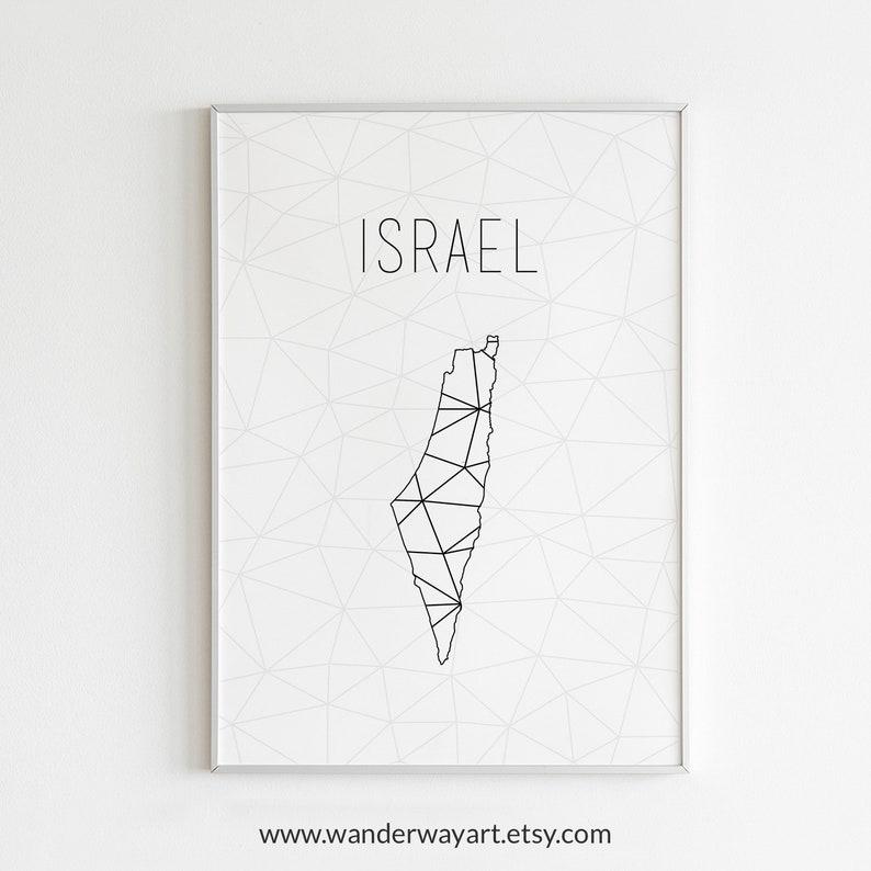 photograph regarding Printable Map of Israel named Israel artwork, Israel map, Israel poster, Israel wall artwork, Israel print, Israel reward, Israel printable, Minimalist artwork, Scandinavian wall artwork