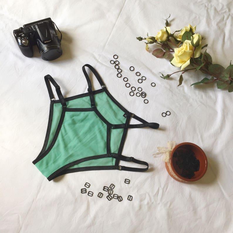 4e831de54a Green fantasy sexy sheer erotic lingerie set trends spring