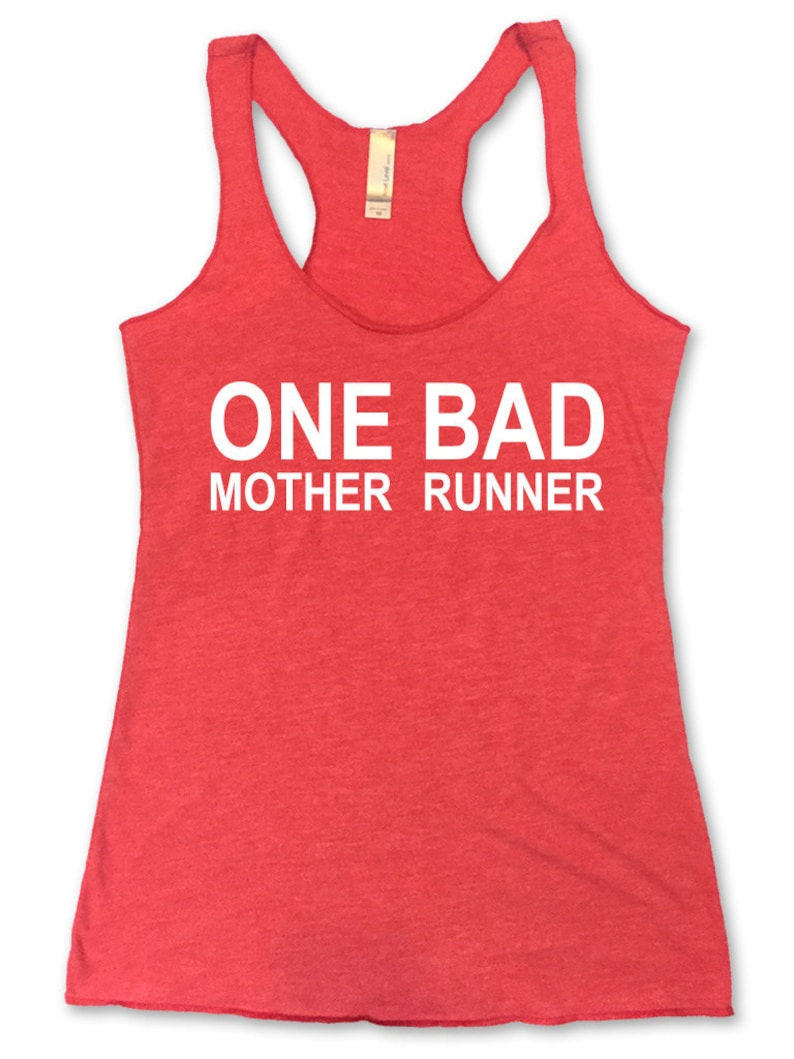 One Bad Mother Runner Running Racerback Tank Running Tank Womens Workout  Tank  Running Tank  Gym Tank