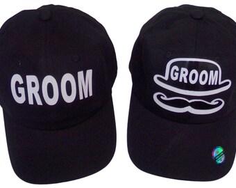 Custom Groom Hats,Bachelor Party Hats, Groom Party Hat, Groom Gifts, Custom Baseball Hats, Custom Caps