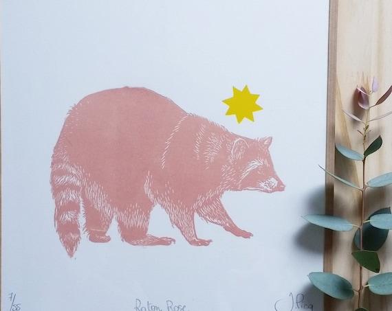 Pink Raton Framed
