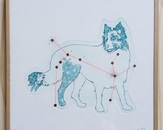 Constellation of the Big Dog - framed