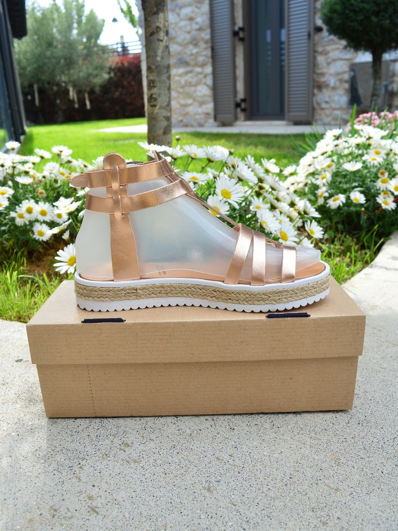 Toe Ring Handmade Greek Leather Sandals Ancient Greek Style Inspired Rose Gold Sandals Made to Order Sandals Gladiator Sandals