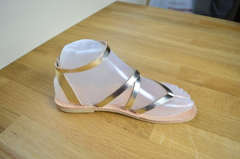 Bridesmaid Sandales Grecques Gift for Her Gold Wedding Sandals Gladiators Handmade Greek Leather Sandals Ancient Greek Strappy Sandals