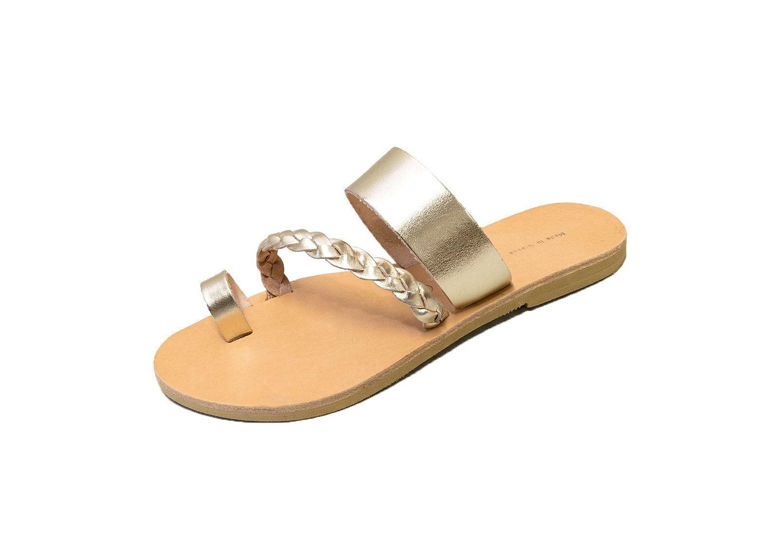b0a40da7758ca Gold Wedding Sandals - Handmade Greek Leather Sandals - Toe Ring - Metallic  Sandals - Ancient Greek Style - Rose Gold Sandals - Bridesmaids