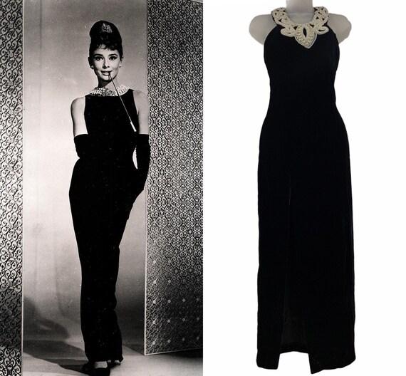 Black vintage Jessica McClintock Gunne Sax dress