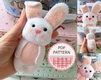 PDF Pattern / Sewing Pattern / Felt Doll - The Rabbit