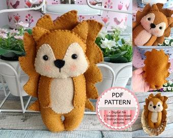PDF Pattern / Sewing Pattern / Felt Pattern - The Hedgehog