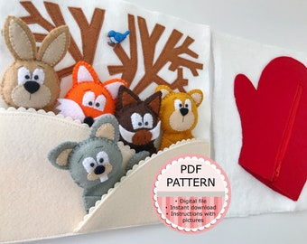 The Mitten - 2 Quiet Book Pages Digital PDF Pattern / Sewing Pattern / Tutorial with Pictures
