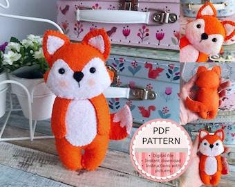PDF Pattern / Sewing Pattern / Felt Pattern - The Fox