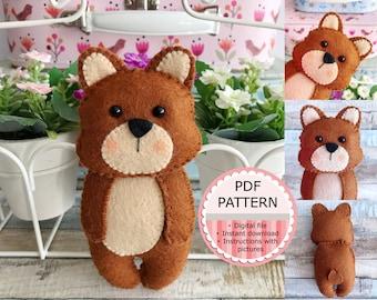 PDF Pattern / Sewing Pattern / Felt Pattern - The Bear