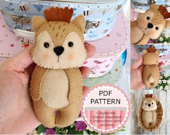 PDF Pattern / Sewing Pattern / Felt Pattern - The Deer