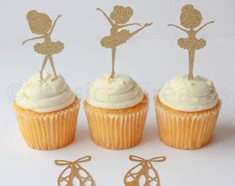 Ballerina Cupcake Toppers - Ballerina - Cupcake Toppers - Ballerina Party Decorations - Ballerina Party