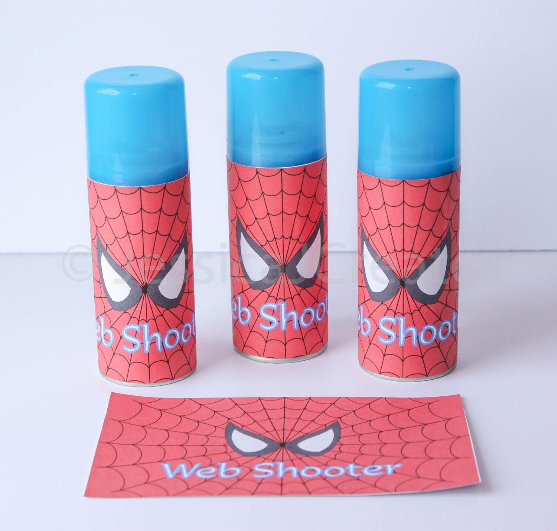 Spider-man Web Shooter Label Spiderman Label Instant | Etsy