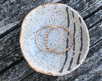 Handmade tiny ceramic cloud ring dishes