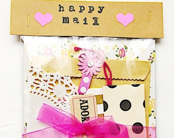 Shabby Chic  Mini Kit, snail mail, paper crafts, mail art, letter writing , stationery, letter writing sets, pen pals