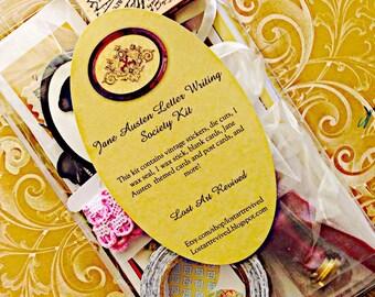 Jane Austen, letter writing kit, letter writing set, vintage letters, Jane Austen, regency craft, pen pal kit, Vintage, snail mail,snailmail