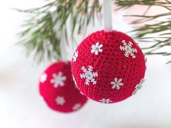 2 Häkeln Weihnachten Weihnachtskugeln Häkeln Sie Etsy