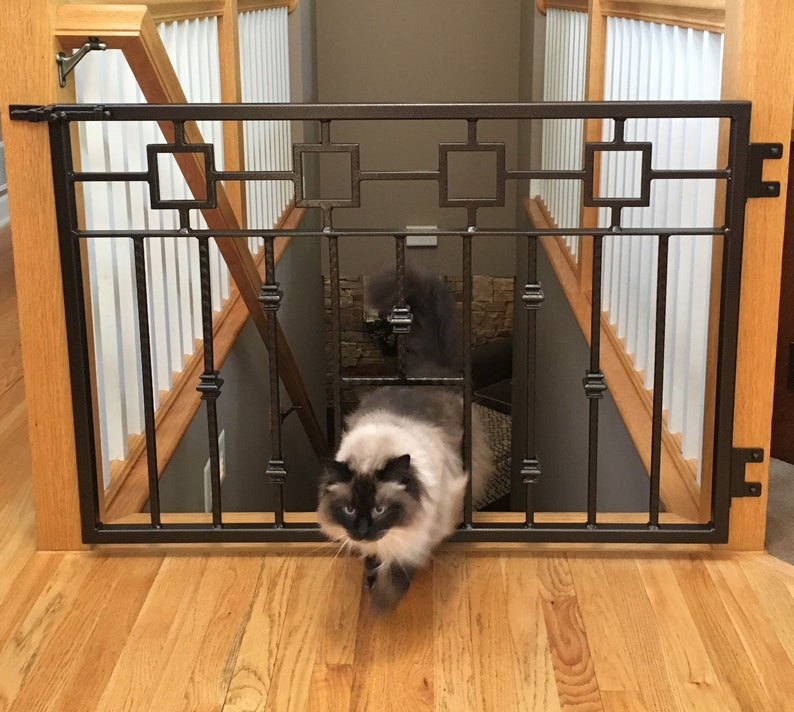 Superieur Pet Gate, Dog U0026 Cat Gate, Wrought Iron Stairway Gate, Made In USA