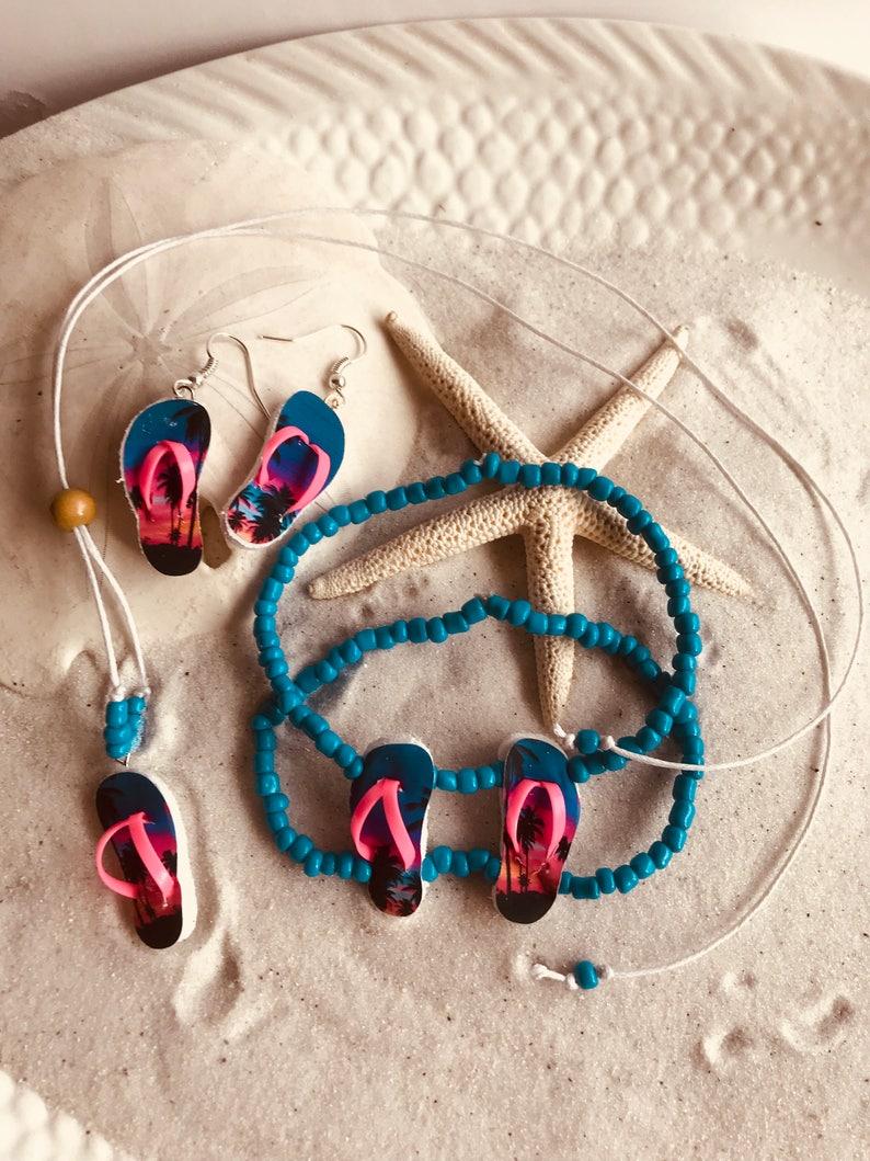 Necklace Adjustable Jewelry Set Stetchy Bracelet Jewelry Set Gift For Her Gift Under 20 Anniversary Gift Adjustable Bracelet