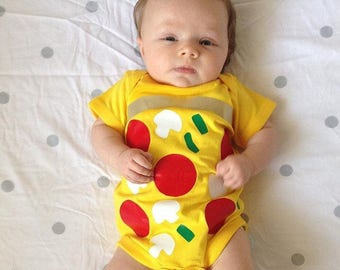 Pizza Baby Outfit - Food Baby Costume - Pizza Baby Bodysuit - Pizza Baby Shower Gift