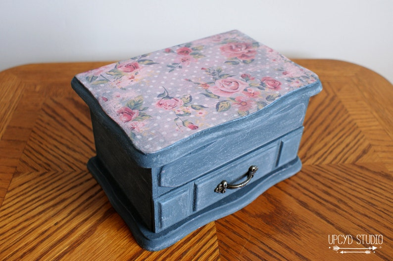 shabby chic easter decor on sale.htm vintage shabby chic navy distressed jewelry box jewelry etsy  vintage shabby chic navy distressed