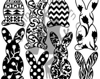 rabbit pattern etsy