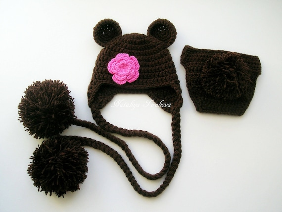Crochet bébé ours ours chapeau Photo accessoires nouveau-né   Etsy 5cf22451584