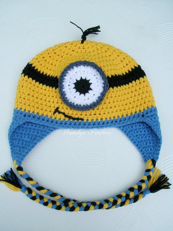 fcdc25c50eb89 Crochet Minion Inspired hat Minion Inspired Beanie crochet