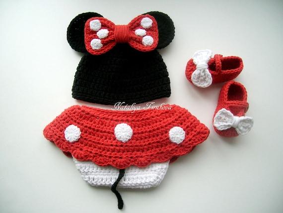 Ensemble crochet Minnie Mouse tenue et Crochet Minnie Mouse et   Etsy a8fe69c4f51