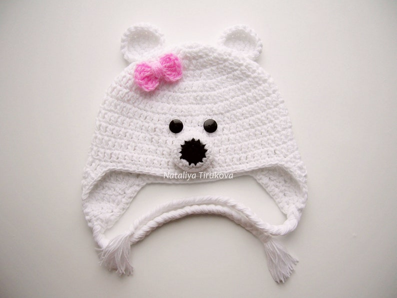 Crochet Bear Hat Polar Bear Hat Bear hat Baby Bear Hat Crochet  5f27db14eb7