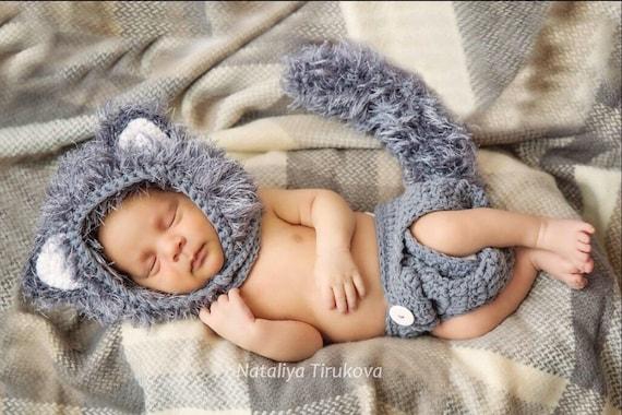 Häkeln Sie Baby Wolf Outfitwolf Baby Kostümbaby Outfitwolf Baby Foto Propbaby Fotografiewolf Outfit Für Babyswolf Kostüm Für Babys