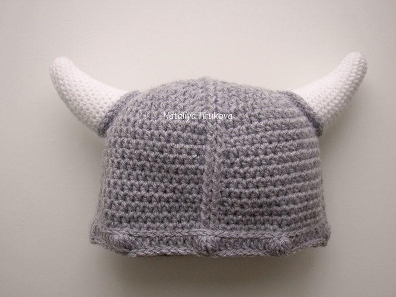 8c438295c5f62 Crochet Baby Viking Hat Crochet baby hat Crochet