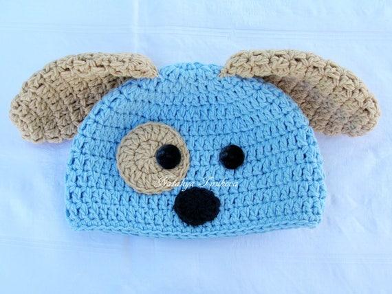 12489f51c40 Puppy hat crochet puppy hat baby puppy hat newborn puppy
