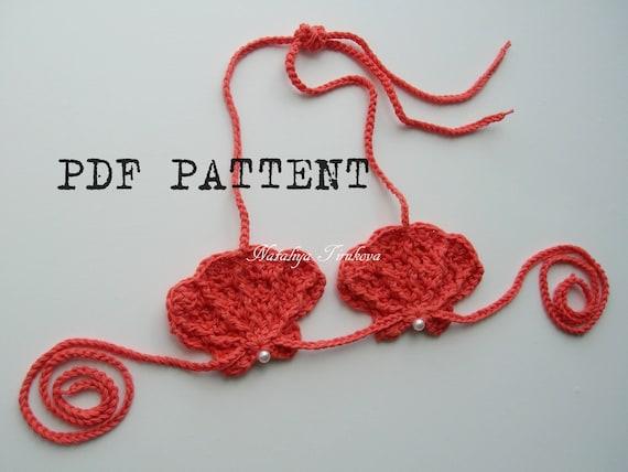 Seashell Bra Crochet Patternpdf Patterncrochet Seashell Etsy