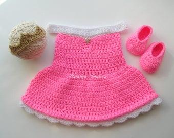 Princess Aurora Costume/Sleeping Beauty Dress/Aurora Outfit/disney Princess/Crochet Princess Aurora Dress/Disney Crochet/Princess Photo Prop