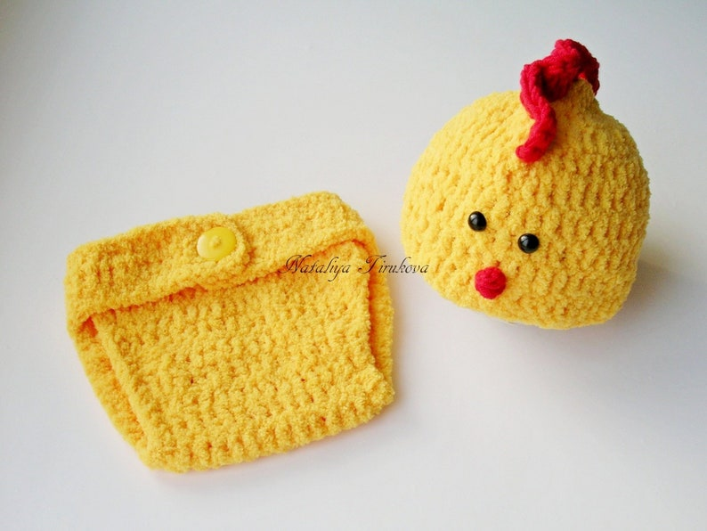 a8fe6f896 Newborn Chick Hat/Crochet Chick Hat & Diaper Cover/Chick Hat/Baby Chick  Outfit/Easter Hat/Newborn Photo Prop/Crochet Easter Hat/Crochet Set