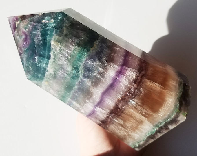 Fluorite Crystal, Large Fluorite Tower, Fluorite Point, Fluorite Obelisk, Rainbow Fluorite