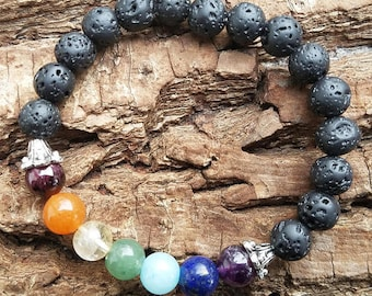 Chakra bracelet, 7 chakra bracelet, chakra jewelry, Yoga bracelet, chakra stones. chakra crystals