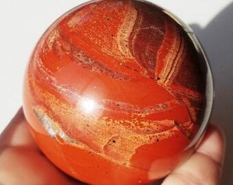 Red Jasper Sphere, Jasper Stone, Jasper Crystal