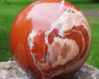 Red Jasper Sphere, Jasper Stone, Jasper Ball, Jasper Crystal