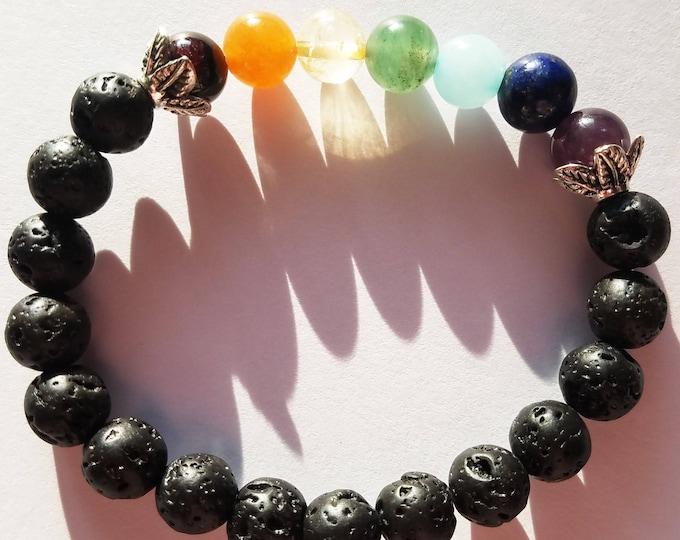 Chakra Bracelet, Yoga Bracelet, Chakra Jewelry, Seven Chakra Stones, Mala Beads, Gemstone Chakra Stones Jewelry,