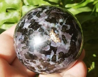 Mystic Merlinite Crystal Sphere, Merlinite Ball, Indigo Gabbro Crystal,