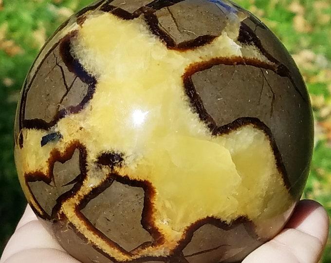 Septarian Nodule Sphere,  Septarian Stone, Septarian Dragon Stone