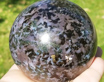 Indigo Gabbro Stone, Mystic Merlinite Sphere, Mystic Merlinite Stone