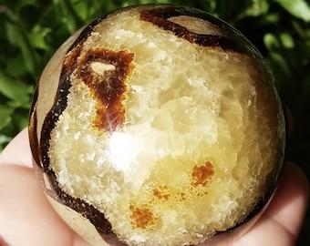 Septarian Dragon Stone sphere, Sepatarian Nodule, Sepatarian crystal, Septarian stone