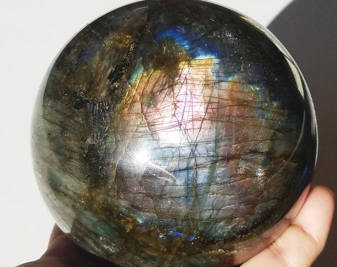 Large Labradorite Sphere, Labradorite Stone, Labradorite Crystal